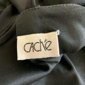 Cache Tops - Cache Black Sleeveless Ruched Tank Spaghetti Strap